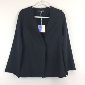Misguided Black Bell Sleeve Blazer Size 2